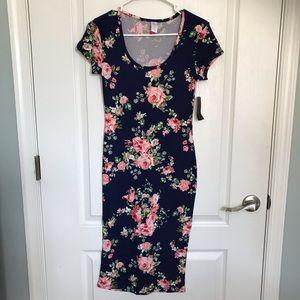 NWT No Boundaries Navy Floral Dress Small